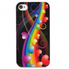 Protective Heart Pattern Back Case for Iphone 4 / 4S - Multicolored