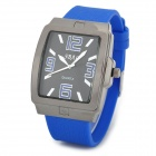 SBAO S292 Fashionable Men's Water Resistant Quartz Analogue Wrist Watch - Black + Blue (1 x LR626)