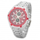 Curren 8023 Fashionable Men's Quartz Analog Wrist Watch - Silver + Red (1 x 626)