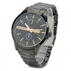 CURREN Fashionable Men's Tungsten Steel Electroplated Quartz Analogue Wrist Watch - Black (1 x 626)