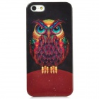Fashion Owl Pattern Plastic Back Case for Iphone 5 - Multicolored