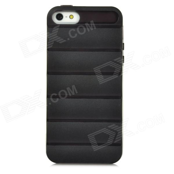 MSJT-2 Protective Frosted Step Style Back Case for Iphone 5 - Black