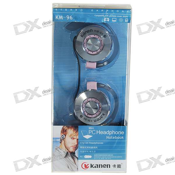 Kanen KM-96 Hook Style PC/Laptop Headset with Microphone (2*3.5mm/2M Cable)