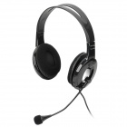 OVLENG Q3 USB Retractable Headband Headphone w/ Microphone - Black