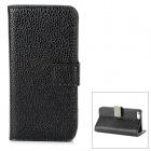 Cool Snake Skin Style PU Leather Case for Iphone 5 - Black