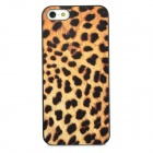 Fashion Leopard Pattern Plastic Back Case for Iphone 5 -Yellow + Black