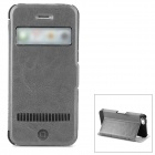 LLMM Protective PU + TPU Flip-open Case w/ Stand for Iphone 5 - Grey