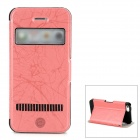 LLMM Protective PU + TPU Flip-open Case w/ Stand for Iphone 5 - Red