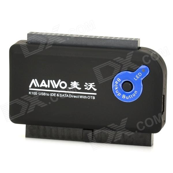 MAIWO K100-U2IS USB 2.0 to SATA / IDE Hard Disk Adapter sata 15 pin male to 2 x ide 4 pin female adapter cable black red yellow 20cm