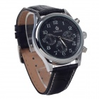 ORKINA P0033 Fashionable Men's Quartz Analog Wrist Watch w/ 6-Pin Stop Watch - Black + Silver