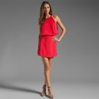 Fashionable Sweet Cynthia Mini Dress For Woman - Red (L Size)