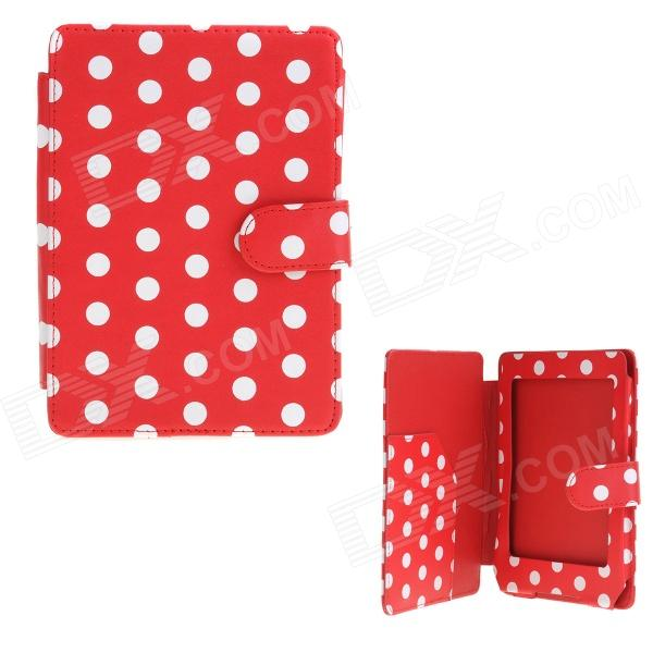 Polka Dots Pattern Protective PU Leather Case Cover for Amazon Kindle Paperwhite - Red + White qumo energy 1 usb 1a micro usb cable сетевое зарядное устройство black