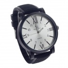 SuperSpeed V0182 Fashionable Men's Quartz Analog Wrist Watch w/ Rome Digital Scale - Black + Silver