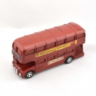 Creative Britain Retro Double-Decker Style Coin Bank - Red