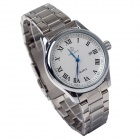 ORKINA P0032 Fashionable Men's Quartz Analog Wrist Watch w/ Rome Scale / Calendar - Silver + White
