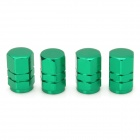 Universal Hexagon Tubular Shaped Aluminium Alloy Tire Valve Caps - Green (4 PCS)