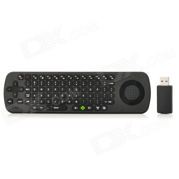 RC13 2.4GHz Wireless Somatosensory Air Mouse Supports Audio Speaker - Black