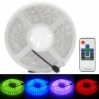 Wasserdicht 72W 4500lm 300-5050 SMD LED RGB Light Strip w / Mini Remote Control - Weiß (5M)