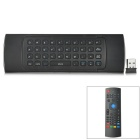 VMX3 2.4G Wireless Six-Axis 81-Key Smart Somatosensory Air Mouse - Black (2 x AAA)