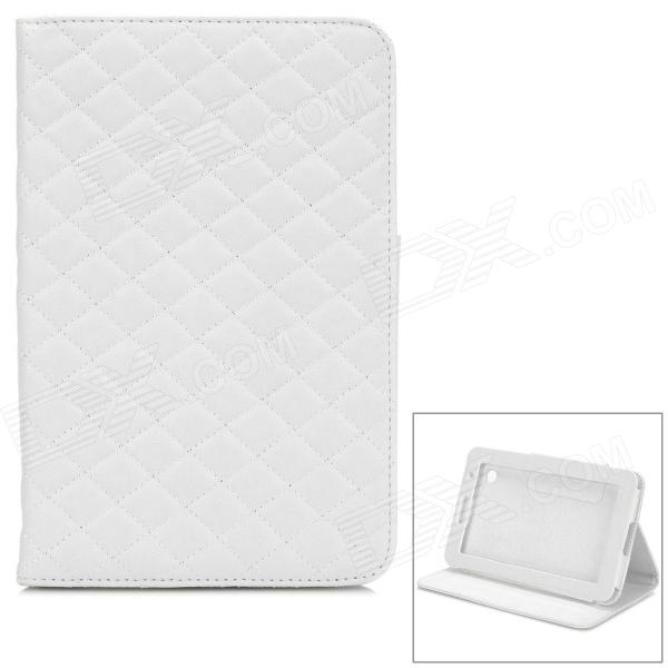 Protective PU Leather Case for Samsung Galaxy Tab P3100 - White
