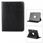 Lichee Pattern 360' Rotation PU Leather Case Cover Stand for Samsung Galaxy Tab 3 10.1 P5200 - Black