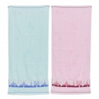 Bathroom Facecloth Face Towel - Blue + Pink (2 PCS)