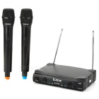 Home KTV Kara OK Wireless Microphone Receiver Kit - Black