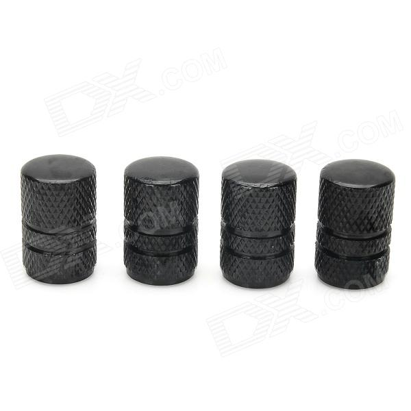 MZ Universal Cylinder Aluminium Alloy Car Tire Valve Caps - Black (4 PCS) mz short universal aluminum alloy motorcycle handlebar ends caps plugs golden pair
