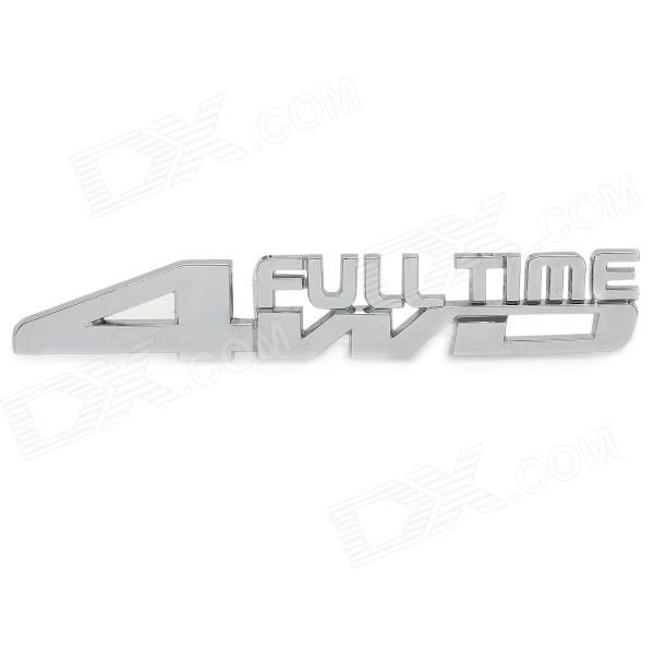 3D 4WD Full Time Letter Style DIY Car Body Sticker - Silver