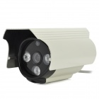 "600TVL Security CCTV 3 IR LED IP66 Waterproof 1/3.7"" CMOS Camera - Black + White  (NTSC / DC12V)"