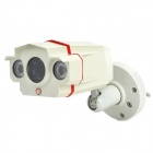 "600TVL Security CCTV 2 IR LED IP66 Waterproof 1/3.7"" CMOS Camera - White  (NTSC / DC12V)"