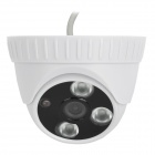 "600TVL Security CCTV 3 IR LED Indoor 1/3.7"" CMOS Camera - White  (NTSC / DC12V)"