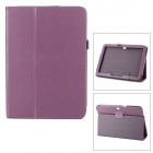 Protective Flip Open Lambskin Case w/ Stand for Samsung Galaxy Tab 3 10.1 P5200 - Purple