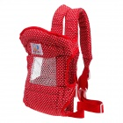 Beidi Cotton Leisure Baby Carrier - Red + White (Suitable for 12-14KG)