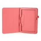 Protective Flip Open Lambskin Case w/ Stand for Samsung Galaxy Tab 3 P5200 - Red