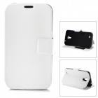 Protective PU Leather Case w/ Card Holder Slot for Samsung Galaxy Mega 6.3 i9200 - White