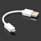 USB Male to Micro USB Male Data Cable - White (10cm)