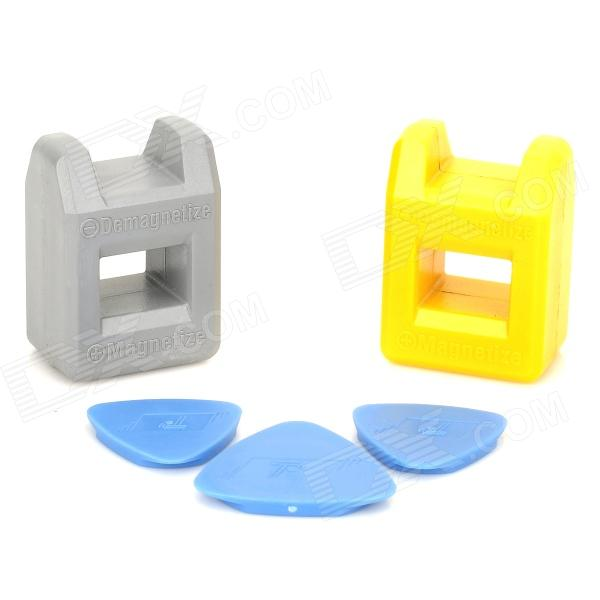 Universal Magnetizer Demagnetizer Repair Tool for Iphone - Yellow + Grey + Blue