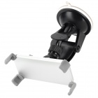 Aluminum Alloy + Plastic Retractable Rotatable Car Mount Holder for Iphone 4 + More - Black