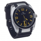 Super Speed V0107 Fashionable Analog Quartz Men's Wrist Watch - Black + Yellow + Silver (1 x LR626)