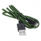 USB Lightning Cotton Weaved Cable for iPhone 5 /iPod Touch 5 / iPad Mini / iPad 4 - Green (100cm)