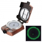 K-4580 American Style Glow-in-the-Dark Marching Lensatic Compass - Cinnamon