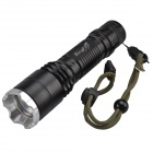 SingFire SF-132 Cree XM-L T6 800lm Cool White 5-Mode Zooming Flashlight - Black (1x18650 / 3xAAA)