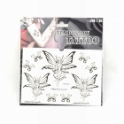 Cool Angel &Fairy Temporary Tattoo Sticker - Black