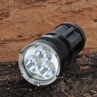 SL-008 3 x Cree XM-L T6 2700lm 3-Mode White Flashlight - Black (4 x 18650)
