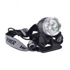 SingFire SF-526 3 x CREE XM-L T6 1304lm Cool White 3-Mode Bicycle Headlight - Grey (4 x 18650)