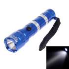 96A 3W 6000K 30lm White Light 1-Mode LED Flashlight - Blue + Silver (1 x AA)