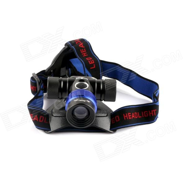 NITEFIRE NFH-17 400lm 3-Mode White Zooming Headlamp w/ CREE XM-L T6 - Black (1 x 18650 / 3 x AAA ) nitefire nfh 11 450lm 3 mode white headlamp w cree xm l t6 black silver 1 x 18650