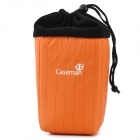 CASEMAN CCU08 Professional Water Resistant Shock-Proof Lens Bag for SLR Camera - Orange + Black