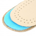 JD-012 Shock Reducing Capeskin + Latex Shoe Insole Pads for Men - Beige + Blue (Pair / Size 42)